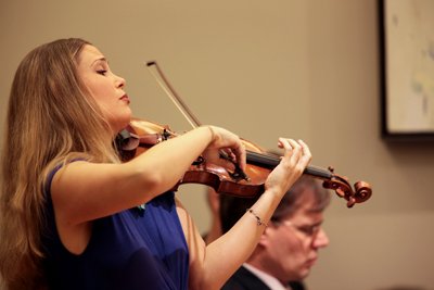 Leila Josefowicz performs in the opening concert of the 2011-12 Michael Palm Series