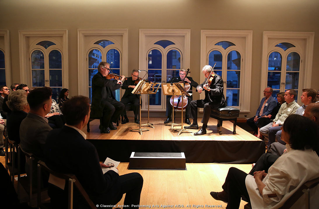 The Emerson String Quartet Shares Dynamic Program in Exclusive House