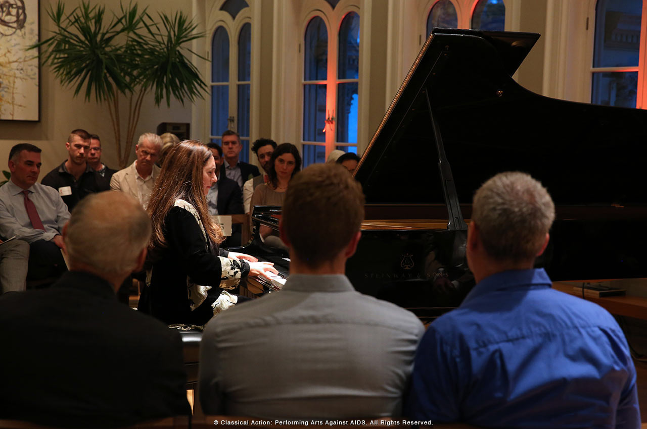 Simone Dinnerstein performing - photo by Steve J. Sherman